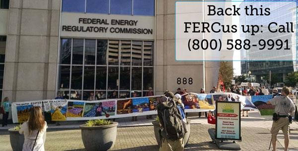 FERC banner out front