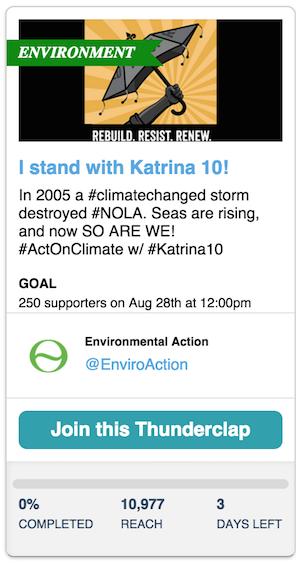 Katrina 10 thunderclap