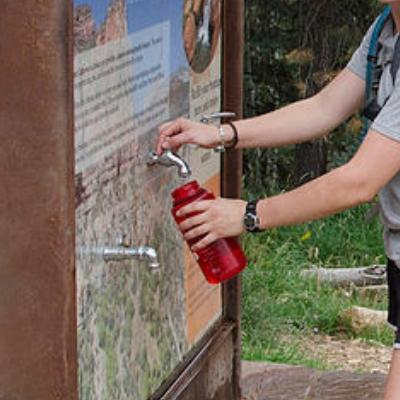 Filling Water Bottle